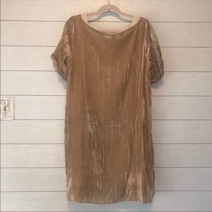 Anthropologie Dresses - Anthro Floreat Crinkled Crushed Velvet Shift Dress